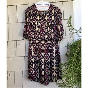 Anthropologie ikat shirt dress by Holding Horses